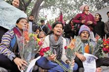 A file photo of a protest by acid attack survivors. Acid violence claimed 80 victims in 2010, 106 each in 2011 and 2012, 122 in 2013 and 130—the most ever for a single year—up to November 2014, says ASF India. Photo: HT