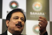 A file photo of Sahara group chairman Subrata Roy. Photo: HT