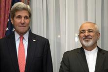 US secretary of state John Kerry (left) with foreign minister Mohammad Javad Zarif. Photo: AP