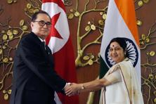 North Korean foreign minister Ri Su Yong's 12-14 April visit is the first ever from that country and comes at the invitation of his Indian counterpart Sushma Swaraj. Photo: PTI