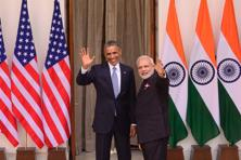 A file photo of Barack Obama and Narendra Modi during the former's visit to India in January. Photo: Pradeep Gaur/Mint