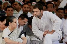 There was an informal baton handover in the Gandhi dynasty—Sonia retreated and left it to Rahul to guide the party in the rest of the budget session. Photo: PTI
