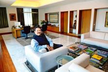Ajay Piramal in his office. Photo: Abhijit Bhatlekar/Mint