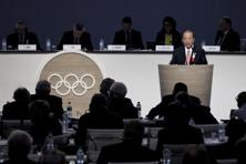 Tokyo 2020 Olympics CEO Toshiro Muto speaks at the 128th International Olympic Committee session in Kuala Lumpur, Malaysia on Saturday. Photo: AP