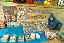 Manipuri film CDs and DVDs on sale at a stall in Imphal. Photo: Indranil Bhoumik/Mint