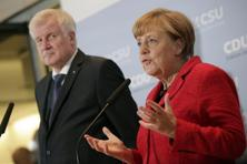 German Chancellor Angela Merkel (right) with CSU leader Horst Seehofer. Photo: AP