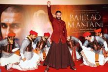 Ranveer Singh at a promotional event for 'Bajirao Mastani'. Photo: AFP