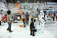 A Star Wars exhibition at a US museum. Photo: Craig F. Walker/Getty Images
