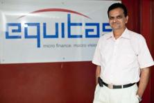 A file photo of Equitas's founder P.N. Vasudevan, who is also selling a part of his holding in the company. Photo: Mint