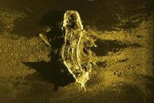 In this sonar image released by Australian Transport Safety Bureau, a shipwreck is seen on the ocean floor off the coast of Australia. Photo: AP
