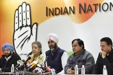 "The Congress also used the occasion to announce that state unit chief Captain Amarinder Singh (left) will be the ""face"" of the party's campaign, thus indicating that he will be its chief ministerial candidate. Photo: Virendra Singh Gosain/Hindustan Times"