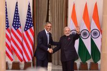 A file photo of US President Barack Obama and Prime Minister Narendra Modi before a meeting at Hyderabad House in New Delhi, January 2015; Photo: Pradeep Gaur/Mint