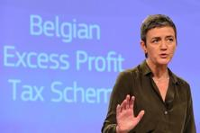 "A file photo of EU's top antitrust official Margrethe Vestager, who said her investigations should send ""a signal that you should invest in Europe for the right reasons"" such as access to the EU's market of more than 500 million consumers or its research environment. Photo: AFP"