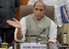 A file photo of home minister Rajnath Singh. Photo: PTI