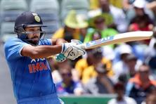 Data shows that the Indian batsman whose strike rate drops the most on entering the 90s is Rohit Sharma, who scored centuries in the first two games of the ongoing series against Australia. Photo: PTI