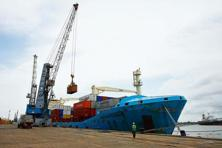 A file photo of the container terminal at the Cochin port. Photo: Reuters