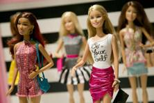 A file photo of Barbie Fashionista Dolls from Mattel. The new versions of the doll will also come in seven skin tones, 22 eye colours and 24 hairstyles. Photo: AP