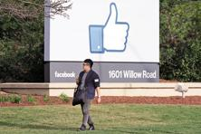 The additional options will expand Facebook beyond the renowned thumbs-up symbol that people click on to show they like a comment, photo or video posted on the social network.  Photo: Bloomberg