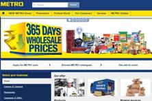 A screen grab of Metro Cash and Carry India website.