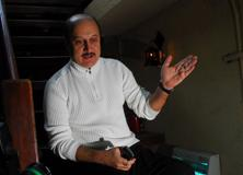 A file photo of Bollywood actor Anupam Kher. Photo: Hindustan Times