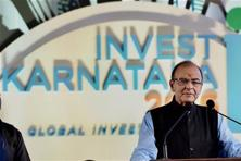 "Inaugurating the investor summit, Union finance minister Arun Jaitley said that while the greatest advantage for the state is its ""first-rate human resource"", its challenge is to grow 2-3% ahead of India's gross domestic product. Photo: PTI"