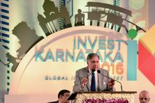 Ratan Tata was addressing the inaugural session of Karnataka's three-day global investor summit in Bengaluru on Wednesday. Photo: AFP