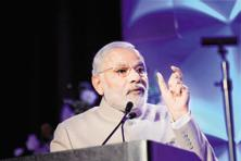 A file photo of Prime Minister Narendra Modi addressing the Digital India and Digital Technology event in San Jose. Photo: PTI