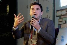 French economist Thomas Piketty during the Jaipur Literature Festival. Photo: PTI