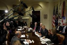 Obama speaks during a meeting with members of his national security team and cybersecurity advisors on new actions to enhance US cybersecurity. The budget for the fiscal year beginning on 1 October is largely a political document and is unlikely to be passed by the Republican-controlled Congress. Photo: Reuters