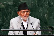 A file photo of former Nepal PM and Nepali Congress leader Sushil Koirala. Photo: Reuters