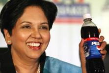 A file photo of PepsiCo chief executive Indra Nooyi, who said warmer-than-usual weather also helped the company's drinks business. Photo: AP