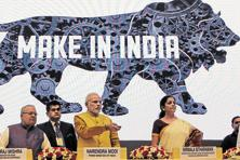 Narendra Modi has backed an export-focused 'Make in India' drive as the path to prosperity for Asia's third-largest economy, where per capita output is $1,688 a year, one fifth that in China. Photo: HT