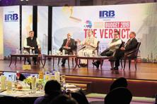 (From left to right) Mint's deputy managing editor Anil Padmanabhan; economic affairs secretary Shaktikanta Das; minister of state for finance Jayant Sinha; revenue secretary Hasmukh Adhia and disinvestment secretary Neeraj Gupta at the 'CNBC-TV18 Mint Budget 2016 The Verdict' event in Delhi on Tuesday. Photo: Ramesh Pathania/Mint