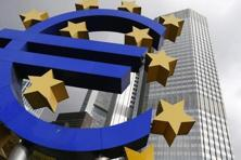 A file photo of the euro logo sculpture in front the ECB headquarters in Frankfurt. Draghi will announce bolder policy moves this time round, central bank watchers predicted. Photo: Reuters