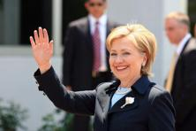 A file photo of Hillary Clinton. Photo: Bloomberg