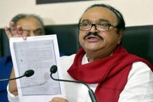 ED issued summons to Bhujbal in a money laundering case it has filed against him, his son Pankaj, and nephew Samir. Photo: PTI