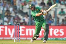Pakistan's captain Shahid Afridi plays a shot during the World T20 cricket tournament match between Pakistan and Bangladesh at The Eden Gardens in Kolkata on 16 March. Photo: AFP