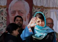 A file photo of PDP chief Mehbooba Mufti. Photo: PTI
