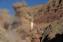 A filr photo of a ballistic missile being launched and tested in an undisclosed location in Iran. Photo: Reuters