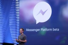 Facebook CEO Mark Zuckerberg speaks on stage during the Facebook F8 conference in San Francisco on 12 April . Photo: Reuters