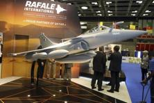 A model of Dassault Rafale fighter jet is seen during Doha International Maritime Defence Exhibition in March, 2016. Photo: Reuters