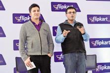 A file photo of Flipkart co-founders Binny Bansal (left) and Sachin Bansal. and Photo: Hemant Mishra/Mint