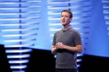 Facebook CEO Mark Zuckerberg during the Facebook F8 conference in San Francisco on 12 April. Photo: Reuters