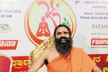 In February, Ramdev alleged that the local units of multinational packaged food companies were ganging up against his company, even hatching plots, involving fake tests, to hurt its business. Photo: Hemant Mishra/Mint