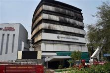 On Tuesday, a fire destroyed the National Museum of Natural History and parts of the FICCI auditorium in New Delhi. Photo: PTI