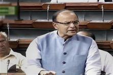 Corporate affairs minister Arun Jaitley speaks in the Lok Sabha in New Delhi on Friday. Photo: PTI