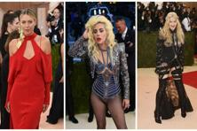 (From left) Maria Sharapova, Lady Gaga and Madonna at the Met Ball.