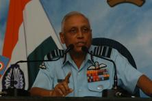 A file photo of former IAF chief S.P. Tyagi. Photo: HT