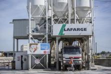 A file photo of a Lafarge cement distribution center. France's Lafarge and Holcim of Switzerland merged in July last year to form the world's largest cement firm. Photo: Bloomberg