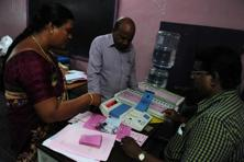 The stage is set for the final round of the ongoing Assembly elections, as polling began for the single phase in Tamil Nadu, Kerala and Puducherry at 7 am on Monday. Photo: AFP